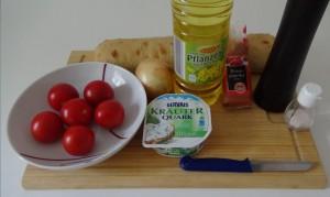 Bruschetta-Zutaten