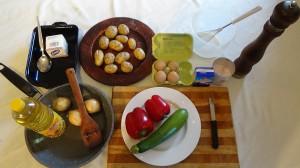 Kartoffelauflauf-Zutaten
