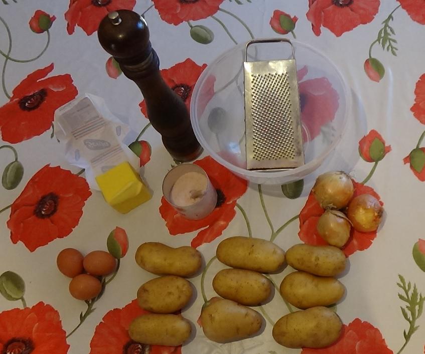 Kartoffelpuffer-Zutaten