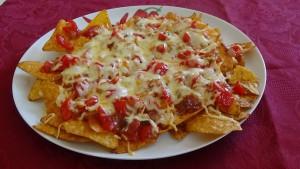 Tortilla-Chips-überbacken